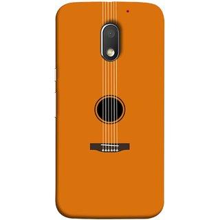 FUSON Designer Back Case Cover for Motorola Moto E3 :: Motorola Moto E (3rd Gen) (Musical Instrument Vintage Bass Music Lovers Play)