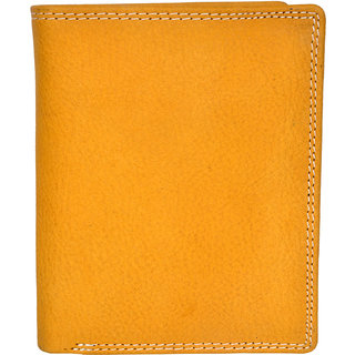 Chandair Pure Leather Golden Men's Wallet (WL-NW-024)