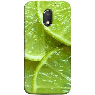 FUSON Designer Back Case Cover for Motorola Moto E3 :: Motorola Moto E (3rd Gen) (Lemon Agriculture Background Bud Candy Cell)