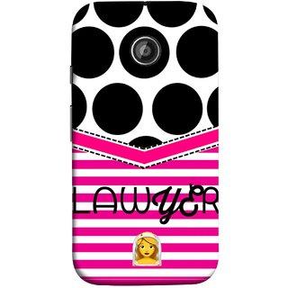 FUSON Designer Back Case Cover for Motorola Moto E2 :: Motorola Moto E Dual SIM (2nd Gen) :: Motorola Moto E 2nd Gen 3G XT1506 :: Motorola Moto E 2nd Gen 4G XT1521 (Beautufil Lawyers Cases Court Nice Pink Design Paper)