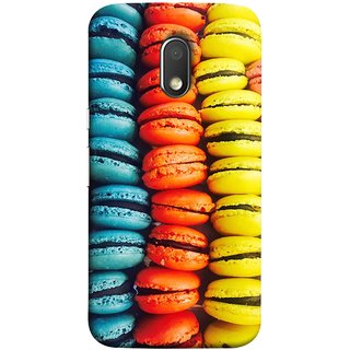 FUSON Designer Back Case Cover for Motorola Moto E3 :: Motorola Moto E (3rd Gen) (Homemade Veggie Burgers With Sweet Potato )