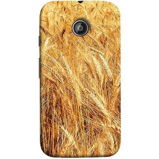 FUSON Designer Back Case Cover for Motorola Moto E2 :: Motorola Moto E Dual SIM (2nd Gen) :: Motorola Moto E 2nd Gen 3G XT1506 :: Motorola Moto E 2nd Gen 4G XT1521 (Wheat Farmers Farms Morning Sunlight Bright Day)