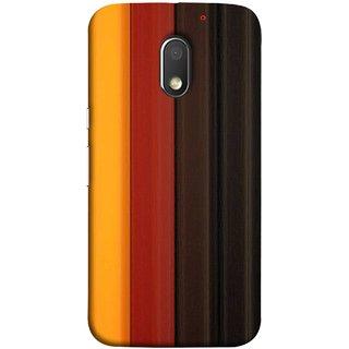 FUSON Designer Back Case Cover for Motorola Moto E3 :: Motorola Moto E (3rd Gen) (Gliding Striped Fabric Floral Patterns Shining Dark Patterns)