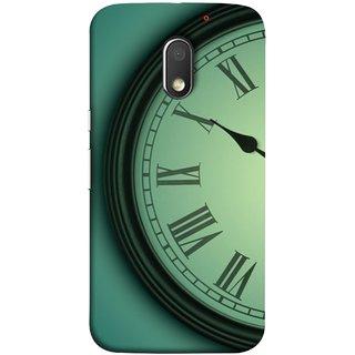 FUSON Designer Back Case Cover for Motorola Moto E3 :: Motorola Moto E (3rd Gen) (Time Lapse Of Antique Clock Old Wooden Vintage Time)