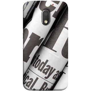 FUSON Designer Back Case Cover for Motorola Moto E3 :: Motorola Moto E (3rd Gen) (Four Packs Newspapers Ready To Distribution Readers.)