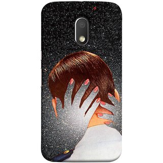 FUSON Designer Back Case Cover for Motorola Moto E3 :: Motorola Moto E (3rd Gen) (Navy Love Kisses Kissing Universal Ship Milky)