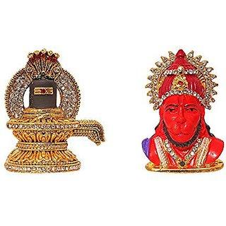 Buy Combo 2 Statue God Shivling Amp Hanuman Idol Puja Mandir