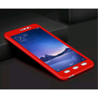 best authentic 89c2e 48b98 Redmi 5A 360 DEGREE FULL BODY PROTECTION CASE FRONT BACK + TEMPERED GLASS  COVER RED COLOR