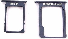 Sim Card Slot Sim Tray Holder Replacement Part for Samsung A-3 (2015)(LIGHT BLUE)