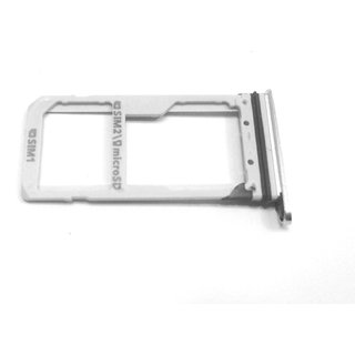 Sim Card Slot Sim Tray Holder Replacement Part for Samsung S-7(SILVER)