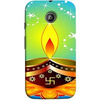 FUSON Designer Back Case Cover for Motorola Moto E2 :: Motorola Moto E Dual SIM (2nd Gen) :: Motorola Moto E 2nd Gen 3G XT1506 :: Motorola Moto E 2nd Gen 4G XT1521 (Wallpaper Vector Beautiful Vector Diwali Diya)