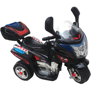 Oh Baby, Baby Battery Operated Bike Black Color With Musical Sound And Back Basket For Your Kids SE-BOB-13