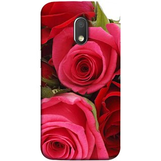 FUSON Designer Back Case Cover for Motorola Moto E3 :: Motorola Moto E (3rd Gen) (Close Up Red Roses Chocolate Hearts For Valentines Day)