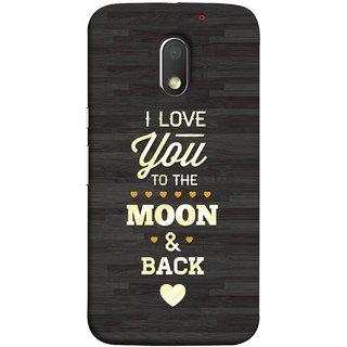 FUSON Designer Back Case Cover for Motorola Moto E3 :: Motorola Moto E (3rd Gen) (Main Chand Tak Pyar Karta Hu Love Birds Heart)