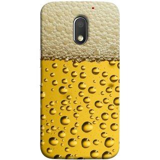 FUSON Designer Back Case Cover for Motorola Moto E3 :: Motorola Moto E (3rd Gen) (Life Hoto Beer Glass Bubble Daaru Drink Wine Fuzzy)