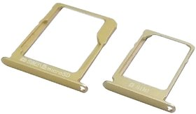 Sim Card Slot Sim Tray Holder Replacement Part for Samsung A-3 (2015)(CHAIMPAIGN GOLD)