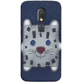 FUSON Designer Back Case Cover for Motorola Moto E3 :: Motorola Moto E (3rd Gen) (Cloth Embroidered Shirt Jacket Patch Mouse Iron Sew)