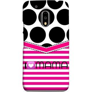 FUSON Designer Back Case Cover for Moto E3 Power :: Motorola Moto E3 Power (Pink Design Paper Big Black Circles Bubbles Mother )