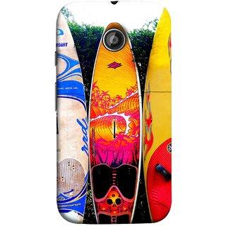 FUSON Designer Back Case Cover for Motorola Moto E2 :: Motorola Moto E Dual SIM (2nd Gen) :: Motorola Moto E 2nd Gen 3G XT1506 :: Motorola Moto E 2nd Gen 4G XT1521 (In Garden Standing Nice Design Ocean Games )
