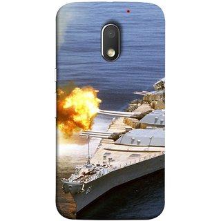 FUSON Designer Back Case Cover for Motorola Moto E3 :: Motorola Moto E (3rd Gen) (Ocean Missile Destroyers Ins Delhi Modern Warships)