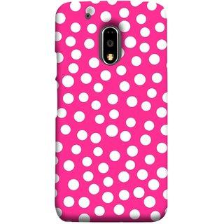 FUSON Designer Back Case Cover for Moto E3 Power :: Motorola Moto E3 Power (Small Bubbles Marbles Circle Pink Board)