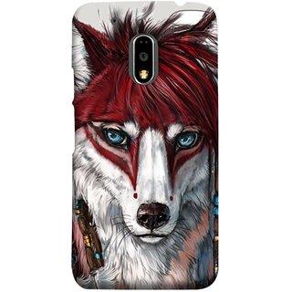 FUSON Designer Back Case Cover for Moto E3 Power :: Motorola Moto E3 Power (Blue Eyes Girl Hairs Hairstyles Wolf Large Ears)