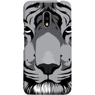 FUSON Designer Back Case Cover for Moto E3 Power :: Motorola Moto E3 Power (Grey Tiger Looking Into Eyes Whiskers Chitta)