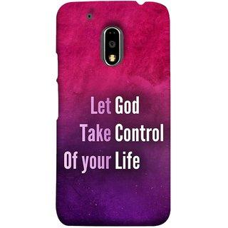 FUSON Designer Back Case Cover for Moto E3 Power :: Motorola Moto E3 Power (Ishwar God Sake Controlling Life Happy Life)