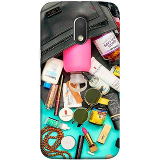 FUSON Designer Back Case Cover for Motorola Moto E3 :: Motorola Moto E (3rd Gen) (Basic Wardrobe Closet Essentials And Basic Creams)