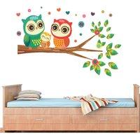 wall dreams Happy Owls family Nature Nature PVC  Sticker