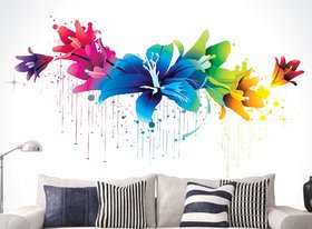 wall dreams Colourful flowers Nature Nature PVC  Sticker