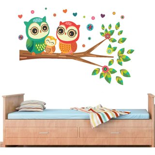 wall dreams Happy Owls family Nature Nature PVC  Sticker
