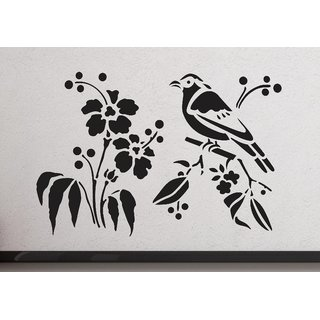 wall dreams Bird sitting on the branches Nature Nature PVC  Sticker