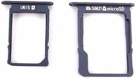 Sim Card Slot Sim Tray Holder Replacement Part for Samsung A-3 (2015)(MIDNIGHT BLACK)