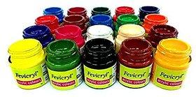 Fabric Colors ( Acrylic Colors ) Multicolored Set Of 20 , 15 Ml Eachcolour