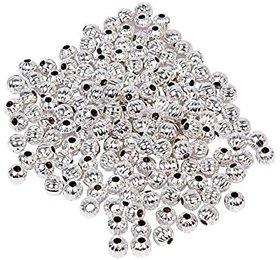 Vardhman Jewellery making metal golden beads,6 mm, pack of 300