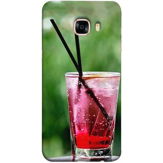 FUSON Designer Back Case Cover for Samsung Galaxy C5 SM-C5000 (Glass Full Of Cold Fresh Squeezed Watermelon Juice)