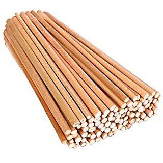 Bamboo sticks, 100 pcs , 9 length Unfinished Round Sticks for DIY Model Building Craft, hobby, scrapbooking,
