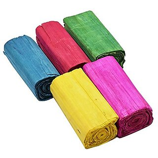 Flower making sola wood paper made from natural sola wood stick  pack of 5 multicolored rolls