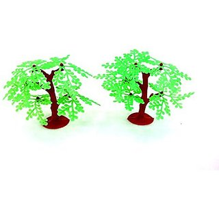 Model Making Green Trees. Big Set Of 20, 7.5 Cms In Height.