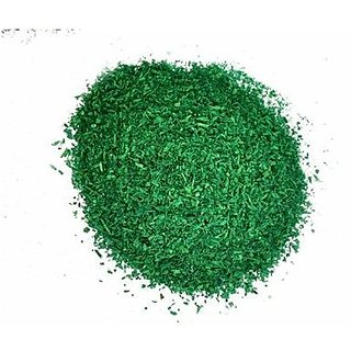 Rangoli color ( saw dust ) premium quality with shining crystals GREEN , total 450 gm, 45 gm each 10 pkt
