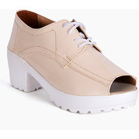 Meriggiare Women Cream Smart Casual Peep Toes