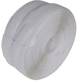 Vardhman Strong self adhesive backing hook  loop touch fastner tape,, (White), 5 mts pack, 20 mm width