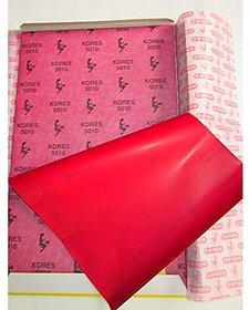 Kores Tracing Carbon Paper Colour Red , Size 210 Mm  330 Mm , Set Of 50 Sheets , Used In Stencil Work , Tracing, On Cloth  Paper