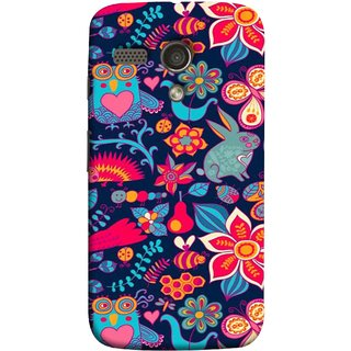FUSON Designer Back Case Cover for Motorola Moto G :: Motorola Moto G (1st Gen) :: Motorola Moto G Dual (Blue Background Leaves Farm Fruits Food Honey Bee)