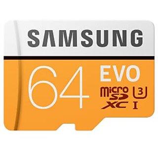 Samsung 64 GB Evo Memory Card Read Speed up to 100 Mpbs