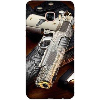 FUSON Designer Back Case Cover for Samsung Galaxy C5 SM-C5000 (Gun Pouch Holder Loading Bullets Killing Murders )