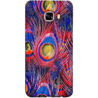 FUSON Designer Back Case Cover for Samsung Galaxy C5 SM-C5000 (Nice Colourful Long Peacock Feathers Beak)
