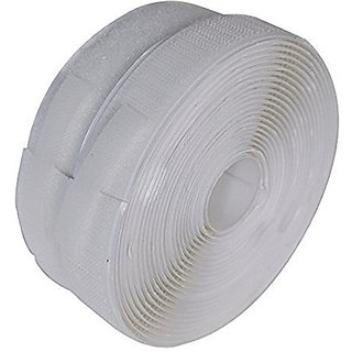 Vardhman Strong self adhesive backing hook loop touch fastner tape  (White) 5 mts pack 20 mm width