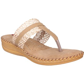c59f7385c6449b Buy 1 WALK COMFORTABLE DOCTOR SOLE WOMEN-FLATS SANDALS FANCY WEAR PARTY WEAR ORIGINAL CASUAL  FOOTWEAR-Beige Online - Get 50% Off